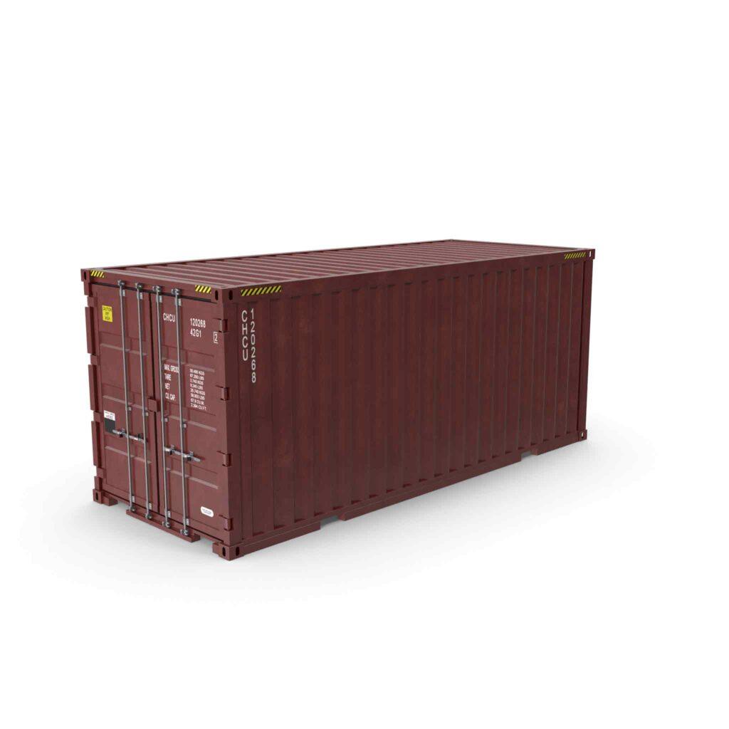 contenedor o container de 20 DV para el transporte de un flexitank
