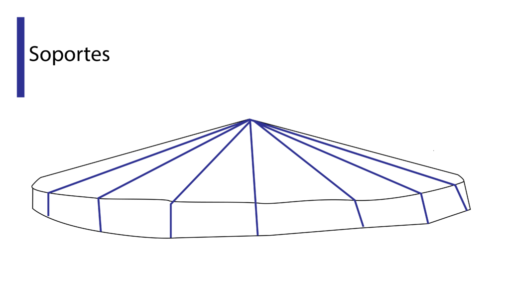 Estructura de techo para tapar tanque australiano
